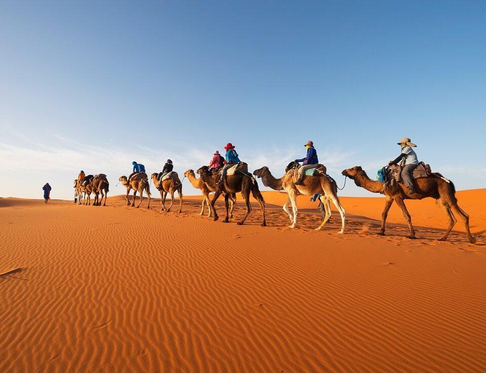 montar a camello en Marruecos