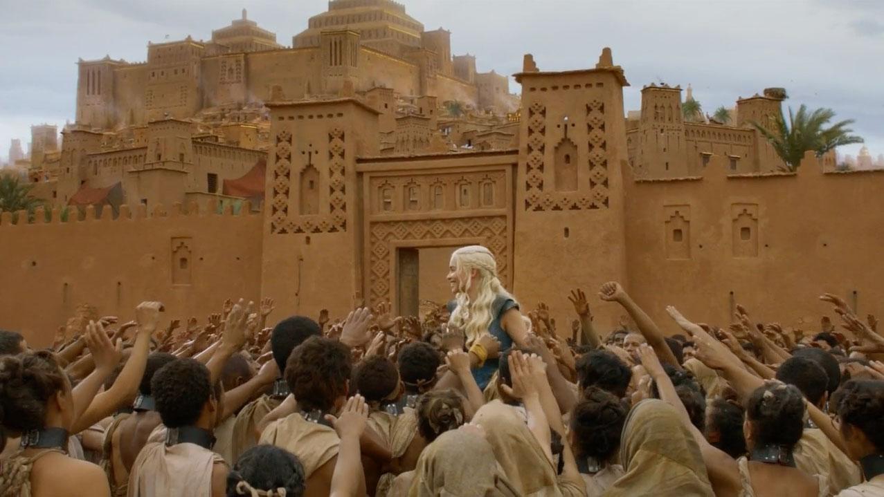 escenario de Juego de Tronos en Marruecos Único